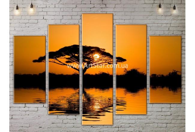 Модульные картины пейзажи, Art. NATA777329
