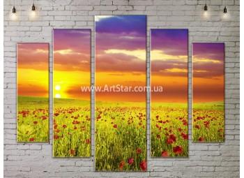 Модульные картины пейзажи, Art. NATA777355