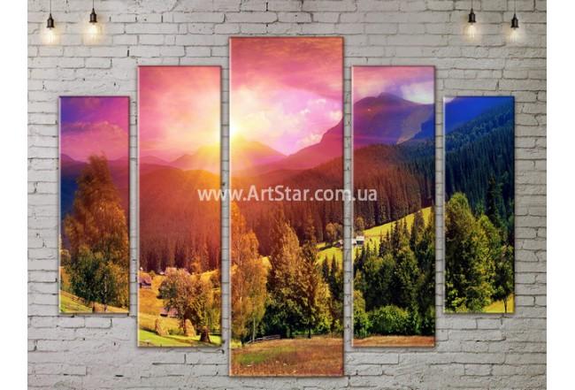 Модульные картины пейзажи, Art. NATA777379