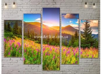 Модульные картины пейзажи, Art. NATA777399