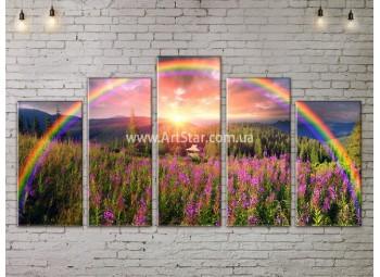 Модульные картины пейзажи, Art. NATA777435