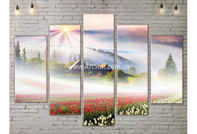 Модульные картины пейзажи, Art. NATA777475