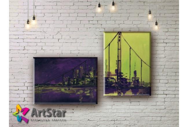 Модульные Картины, рисованные, маслом, Art. MHM17_2_001