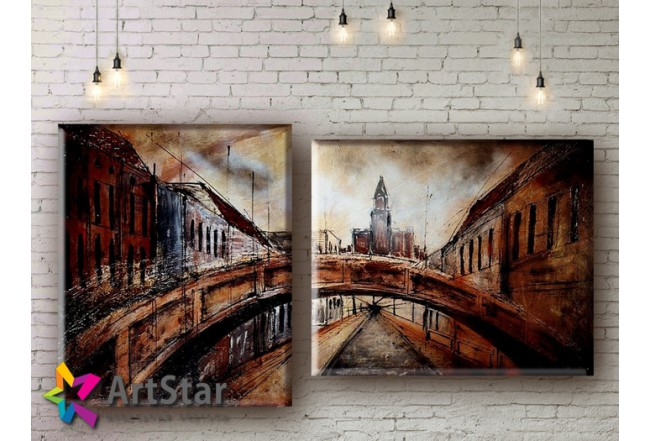 Модульные Картины, рисованные, маслом, Art. MHM17_2_019