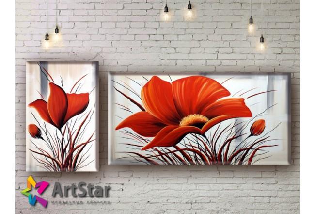 Модульные Картины, рисованные, маслом, Art. MHM17_2_025