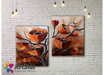 Модульные Картины, рисованные, маслом, Art. MHM17_2_063