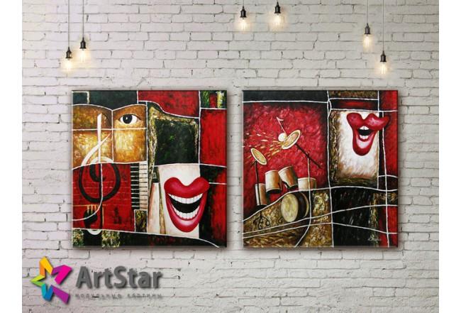Модульные Картины, рисованные, маслом, Art. MHM17_2_091