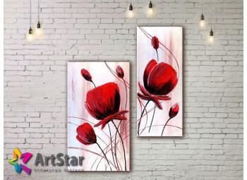 Модульные Картины, рисованные, маслом, Art. MKM17_2_001