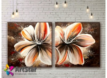 Модульные Картины, рисованные, маслом, Art. MKM17_2_025
