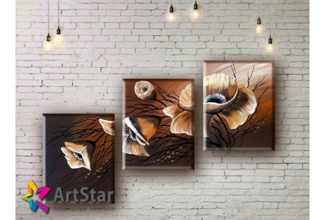 Модульные Картины, рисованные, маслом, Art. MHM17_3_005