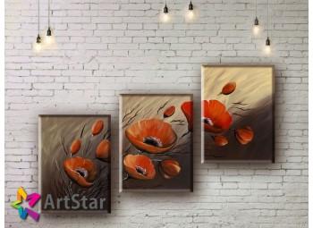 Модульные Картины, рисованные, маслом, Art. MHM17_3_009