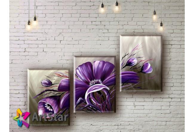 Модульные Картины, рисованные, маслом, Art. MHM17_3_013