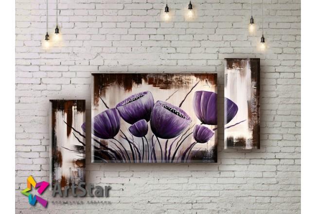 Модульные Картины, рисованные, маслом, Art. MHM17_3_041