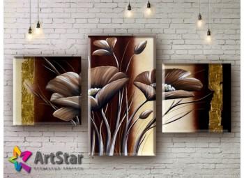 Модульные Картины, рисованные, маслом, Art. MHM17_3_051
