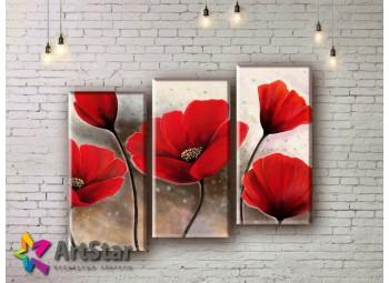 Модульные Картины, рисованные, маслом, Art. MHM17_3_053