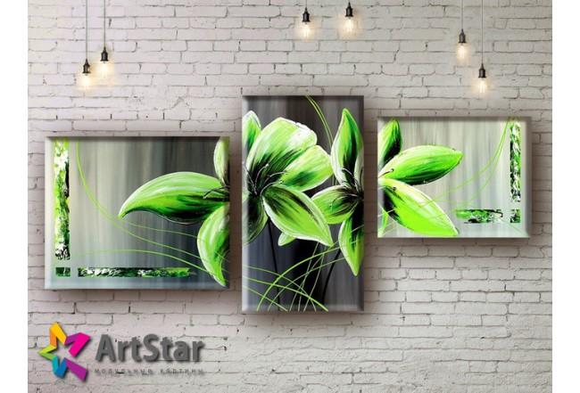 Модульные Картины, рисованные, маслом, Art. MHM17_3_069