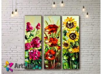 Модульные Картины, рисованные, маслом, Art. MHM17_3_081