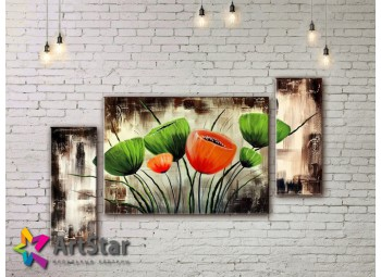 Модульные Картины, рисованные, маслом, Art. MHM17_3_089