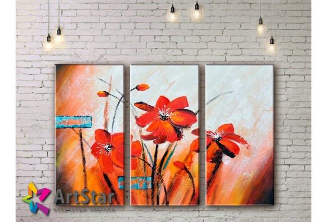 Модульные Картины, рисованные, маслом, Art. MHM17_3_107