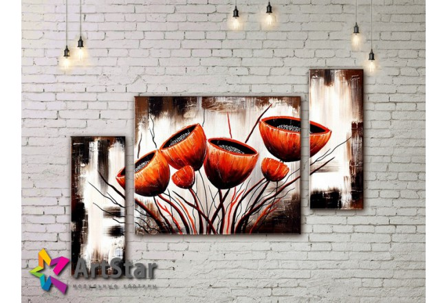 Модульные Картины, рисованные, маслом, Art. MHM17_3_132