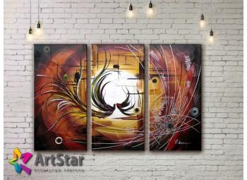 Модульные Картины, рисованные, маслом, Art. MHM17_3_152