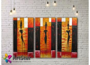 Модульные Картины, рисованные, маслом, Art. MHM17_3_200