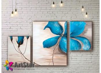 Модульные Картины, рисованные, маслом, Art. MKM17_3_009