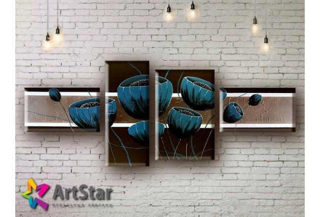 Модульные Картины, рисованные, маслом, Art. MHM17_4_023