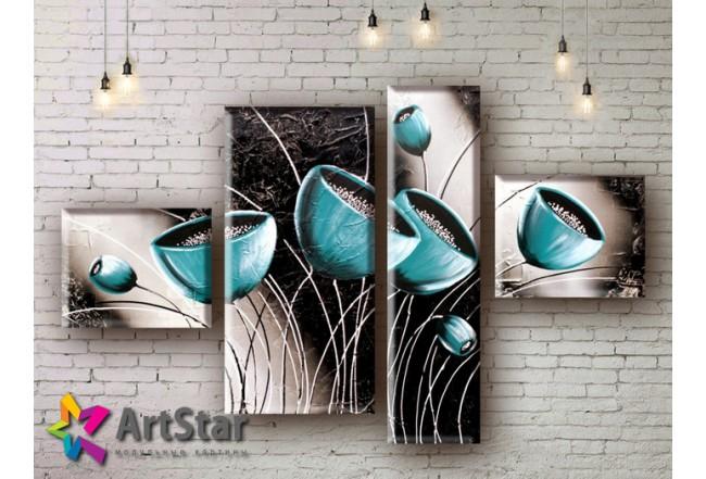 Модульные Картины, рисованные, маслом, Art. MHM17_4_047