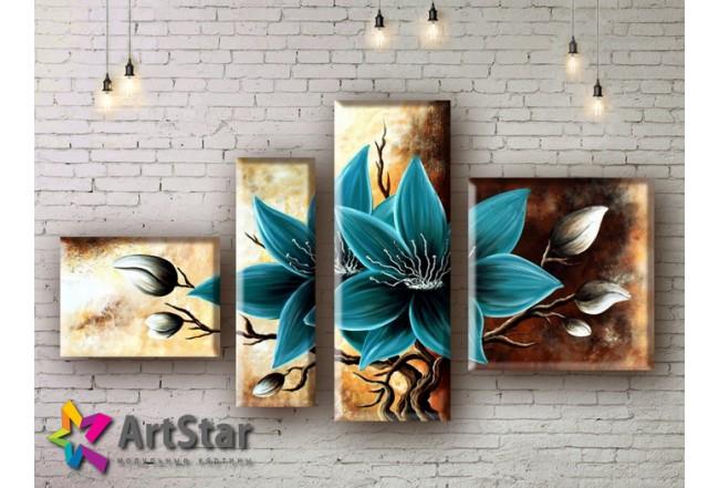 Модульные Картины, рисованные, маслом, Art. MHM17_4_049
