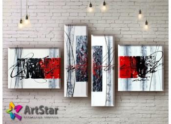 Модульные Картины, рисованные, маслом, Art. MHM17_4_055