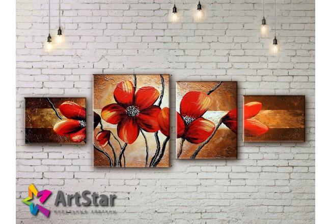 Модульные Картины, рисованные, маслом, Art. MHM17_4_110
