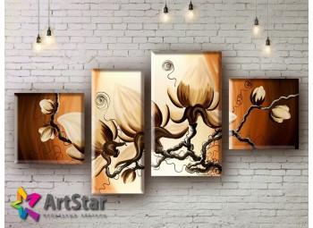 Модульные Картины, рисованные, маслом, Art. MHM17_4_124