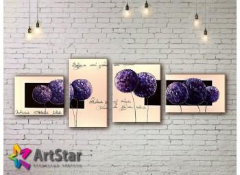 Модульные Картины, рисованные, маслом, Art. MHM17_4_126