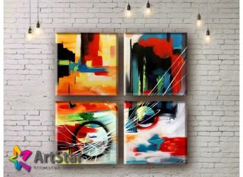 Модульные Картины, рисованные, маслом, Art. MHM17_4_170