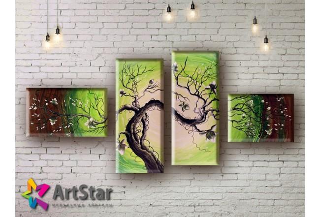 Модульные Картины, рисованные, маслом, Art. MHM17_4_174