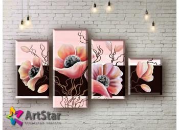 Модульные Картины, рисованные, маслом, Art. MHM17_4_184