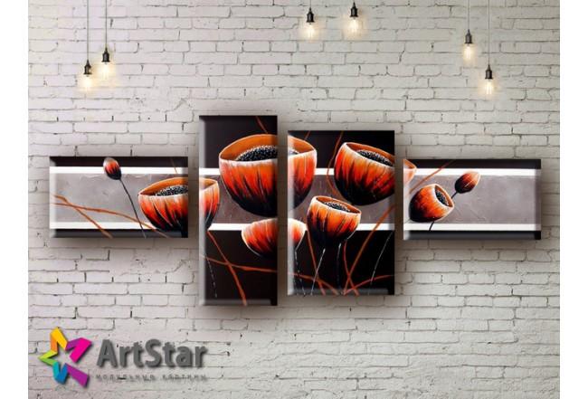 Модульные Картины, рисованные, маслом, Art. MHM17_4_204