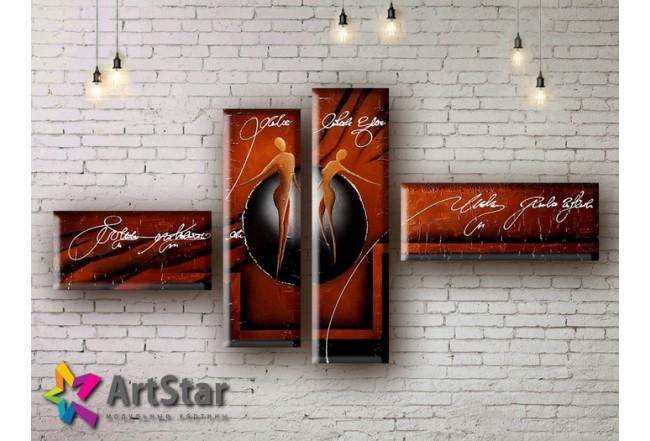 Модульные Картины, рисованные, маслом, Art. MHM17_4_254