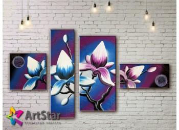 Модульные Картины, рисованные, маслом, Art. MHM17_4_283