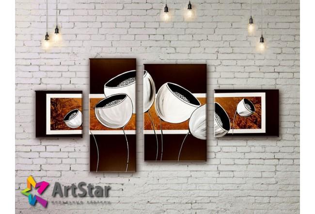 Модульные Картины, рисованные, маслом, Art. MHM17_4_303
