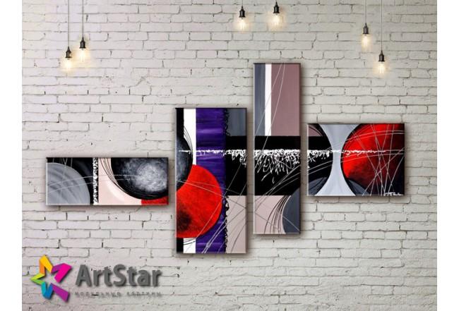 Модульные Картины, рисованные, маслом, Art. MHM17_4_305