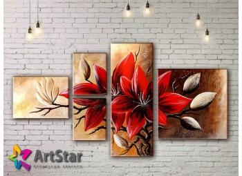 Модульные Картины, рисованные, маслом, Art. MHM17_4_338