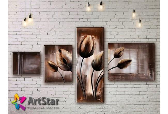 Модульные Картины, рисованные, маслом, Art. MHM17_4_342