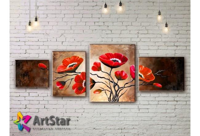 Модульные Картины, рисованные, маслом, Art. MHM17_4_368