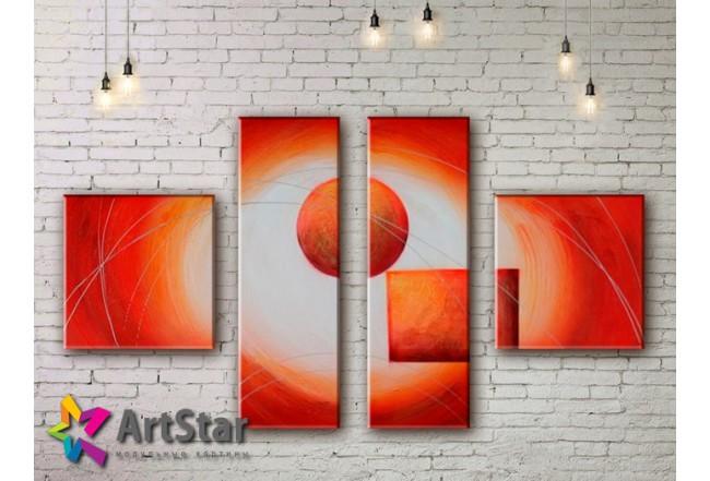Модульные Картины, рисованные, маслом, Art. MHM17_4_370