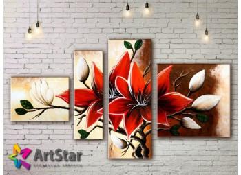 Модульные Картины, рисованные, маслом, Art. MHM17_4_376