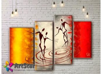 Модульные Картины, рисованные, маслом, Art. MHM17_4_390