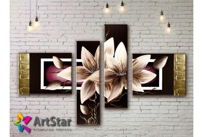 Модульные Картины, рисованные, маслом, Art. MKM17_4_001