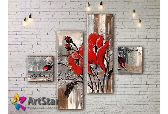 Модульные Картины, рисованные, маслом, Art. MKM17_4_005
